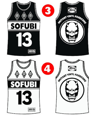 Mutant Vinyl Hardcore Basketball Jerseys by New Jersey Sets