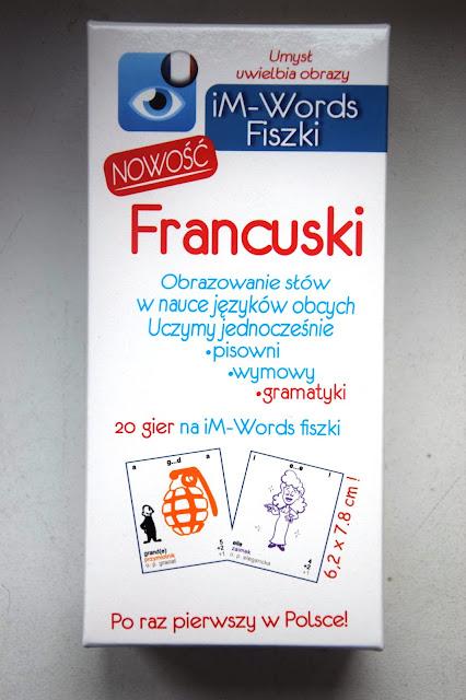 Recenzje #84 - Fiszki iM-Words + konkurs - nagłówek - Francuski przy kawie