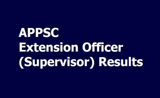 APPSC Extension Officer (Supervisor) Results
