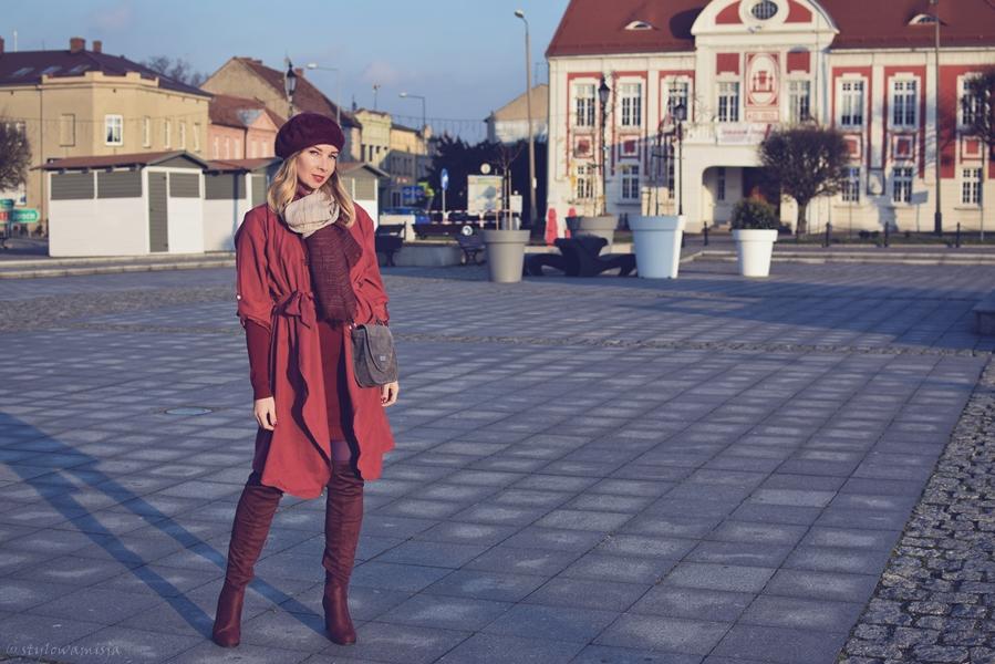 beret, brilu, brilupl, czasnabuty.pl, czerwień, frenchchic, kozaki, moda, płaszcz, street, szal, szaleo, torebka, zaful,