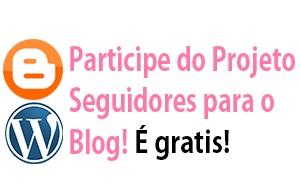 Hoje quero falar de um projeto muito legal que estou participando no blog Agenda dos Blogs o projeto chama-se  Seguidores para o Blog.  Esse projeto destina a você ganhar 30 seguidores fieis  para o seu blog