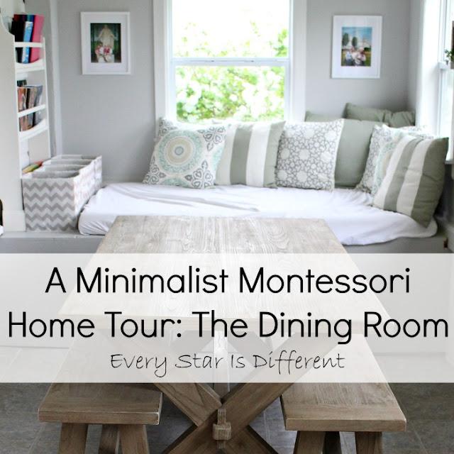 A Minimalist Montessori Home Tour: The Dining Room