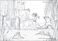 Sketch for Mermaid's Lagoon