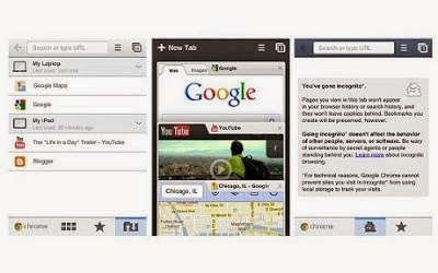 Google Chrome Internet Browser 240x400 touchscreen java App for