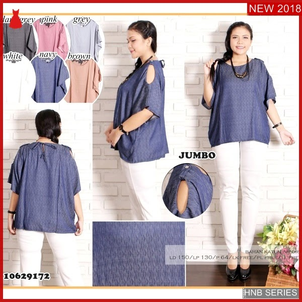 HNB114 Model Atasan Bordir Big Size Blouse Peplum BMG Shop