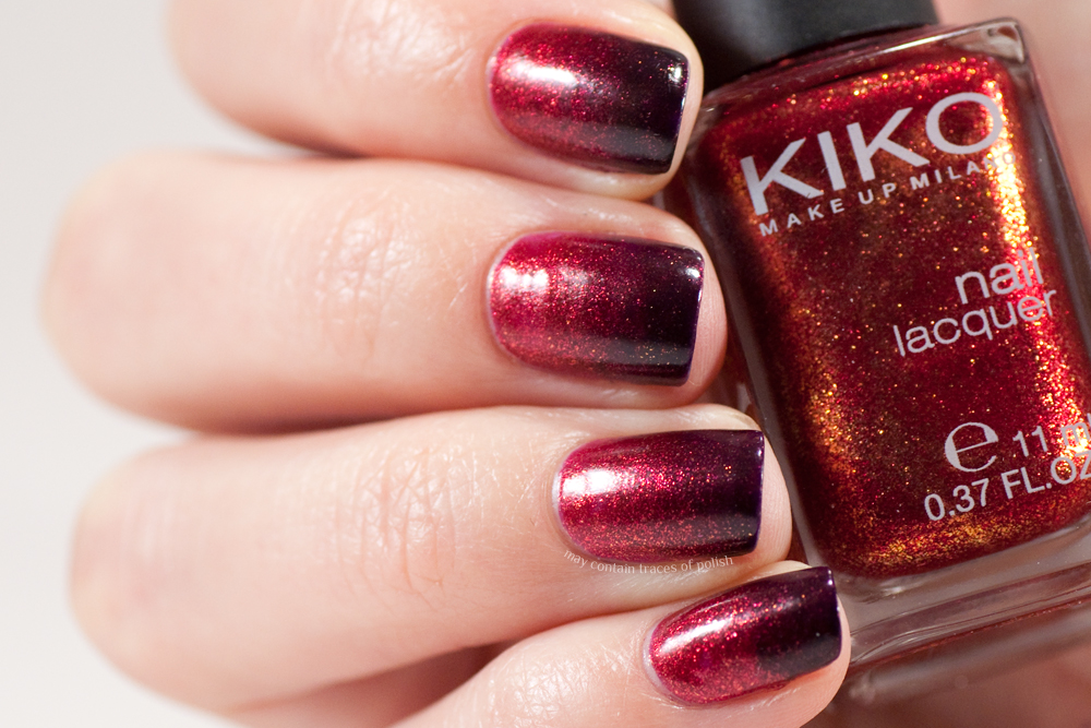 Red And Purple Gradient May Contain Traces Of Polish