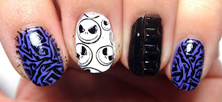 Nightmare Before Christmas Stamped Nails