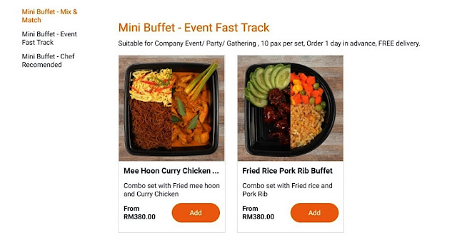 Mini Buffet- Event Fast Track