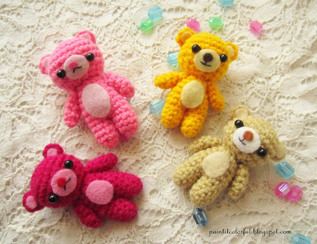 Free Crochet Mini Teddy Bear Pattern : Amigurumi Teddy bear pattern - A little love everyday!