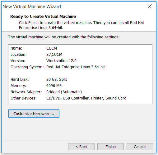 Roshan's Networking Blog: How to Install CUCM 10 5 on VMware