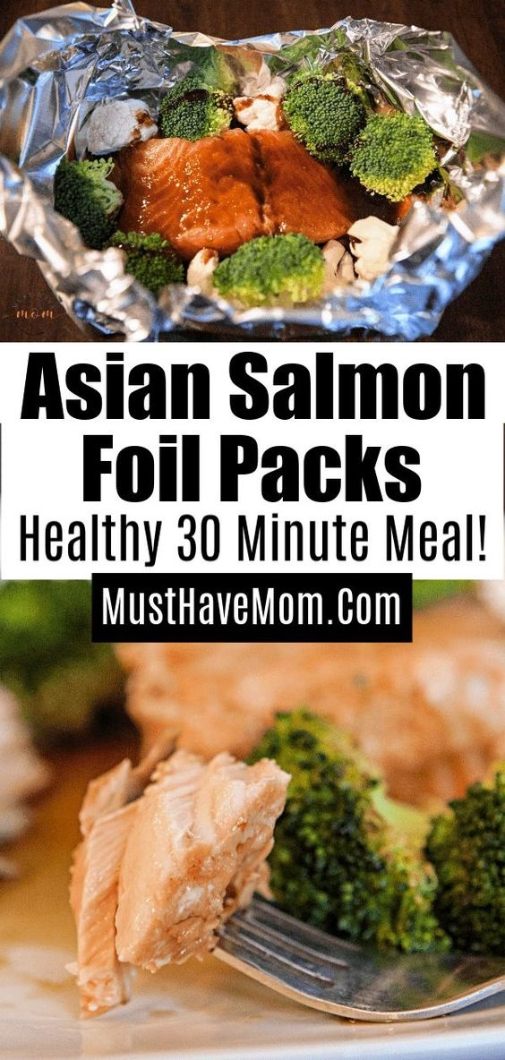 Asian Salmon In Foil Packs