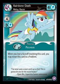 My Little Pony Rainbow Dash, Relay Racer The Crystal Games CCG Card