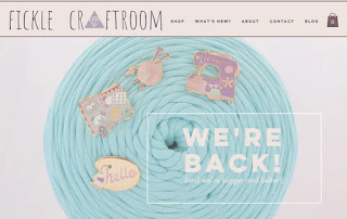 A new look for the Fickle Craftroom website