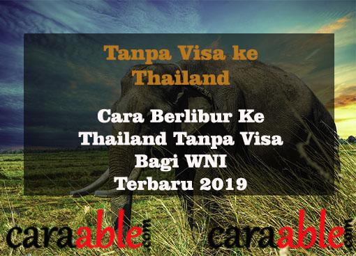 Mudahnya cara pergi ke Thailand bagi WNI tanpa perlu mengurus Visa masuk di kedutaan Thailand di Indonesia. Dilengkapi dengan hak dan kewajiban yang wajib diketahui oleh semua WNI.