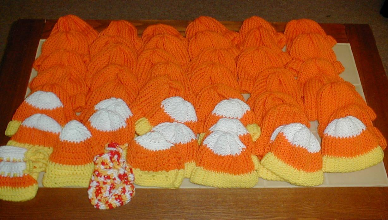 Karens Crocheted Garden Of Colors Halloween Hats