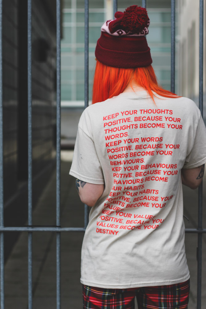 Alternative Fashion Blogger Foxxtailz Style The Lucky Club Thoughts T-shirt