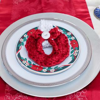 Loom Knit Napkin Wring wreath