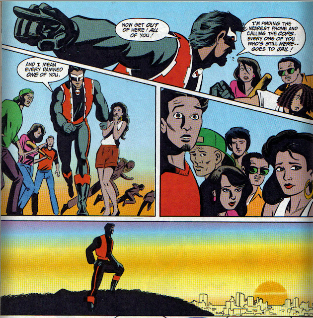 panels from El Diablo v1 #16 (1991). Property of DC comics.