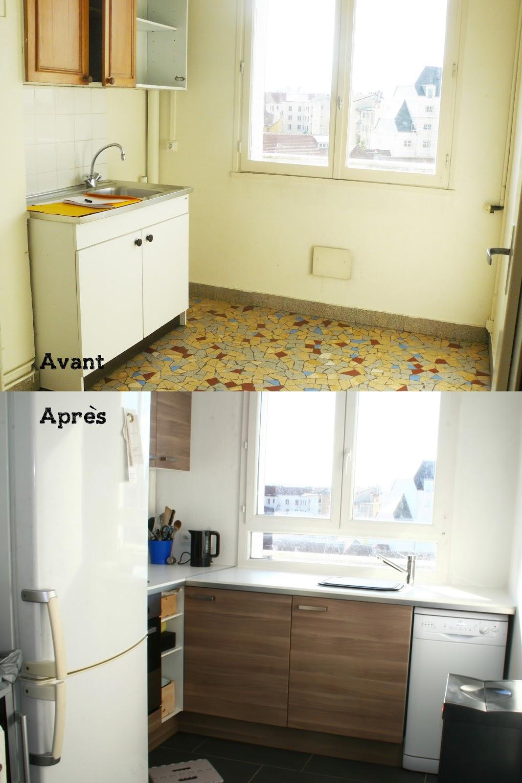 notre petit chez nous ma petite cuisine avant apr s. Black Bedroom Furniture Sets. Home Design Ideas