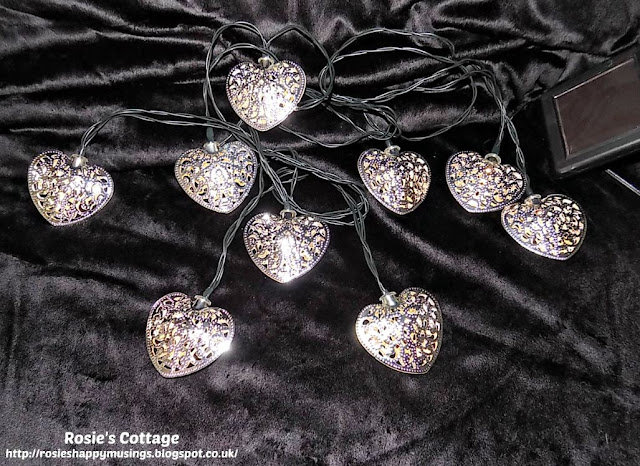 Solar heart design string lights from George at Asda