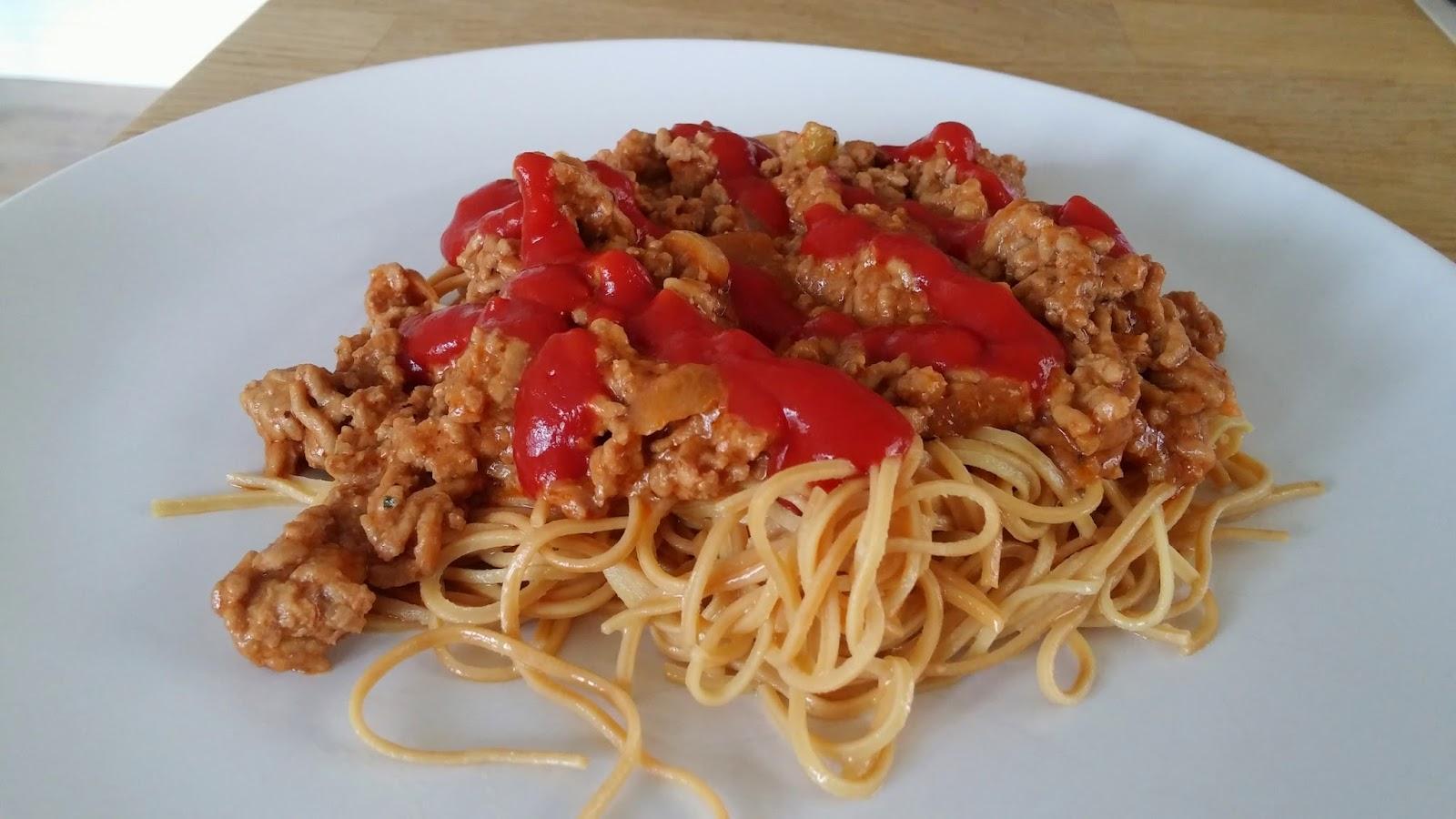 spagetti med köttfärssås recept