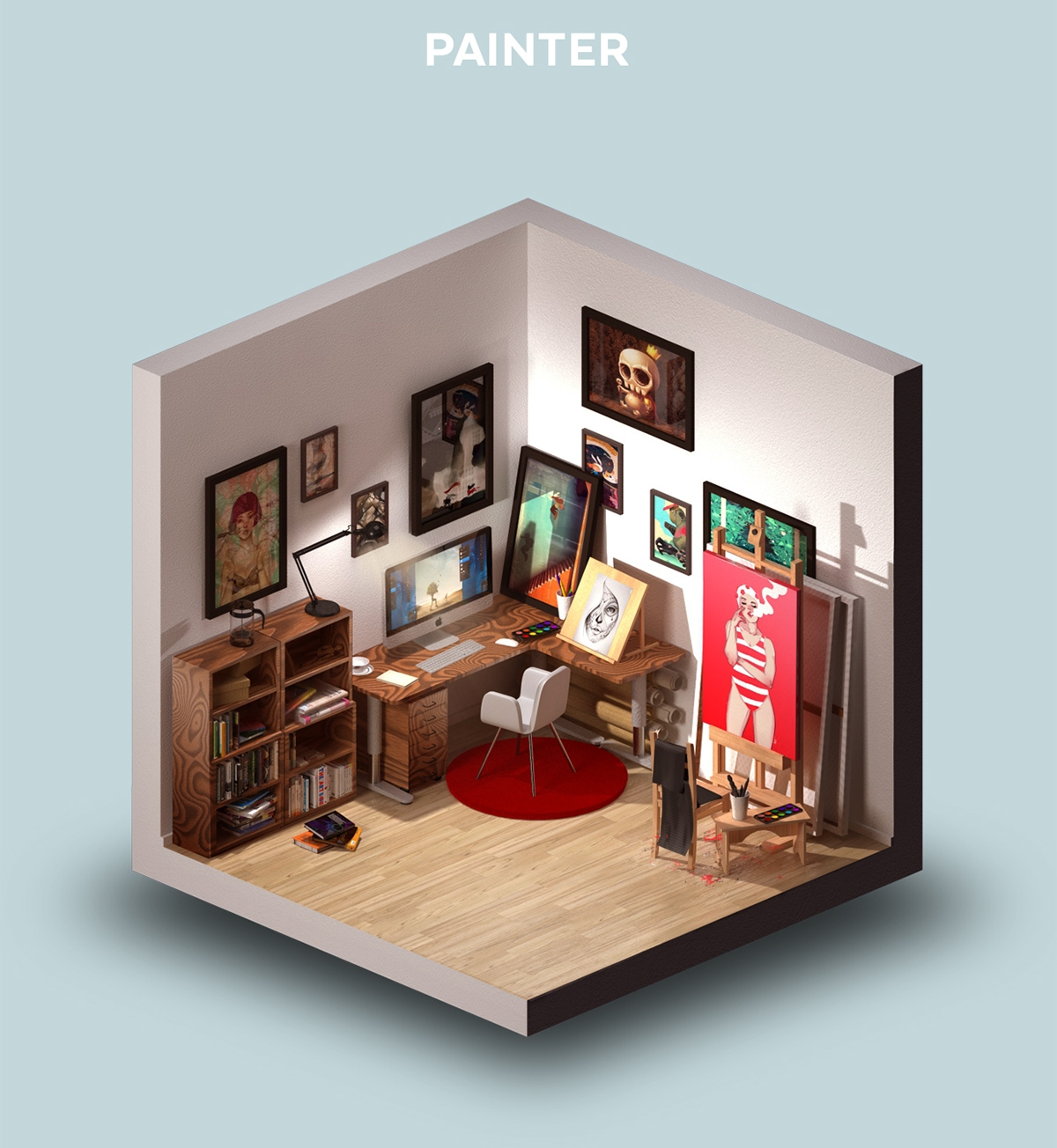 03-Room-of-a-Painter-Petr-Kollarcik-Digital-Interiors-Design-and-Modern-Nomads-illustrations-www-designstack-co
