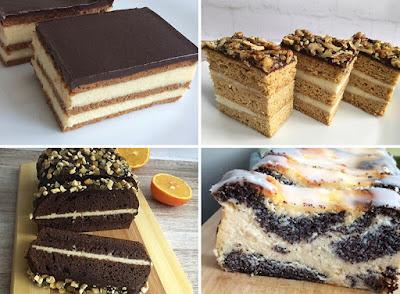Wybrane ciasta, sernik, miodownik, piernik, makowiec