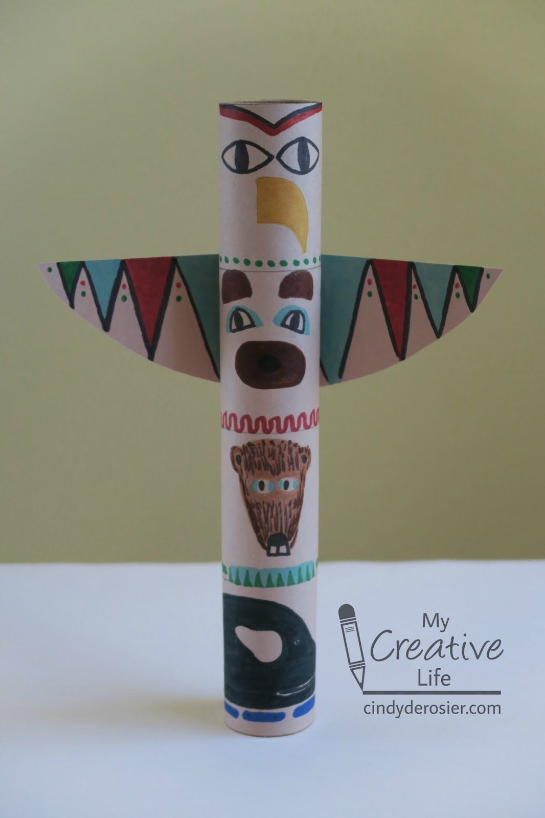 Cindy Derosier My Creative Life Cardboard Tube Totem