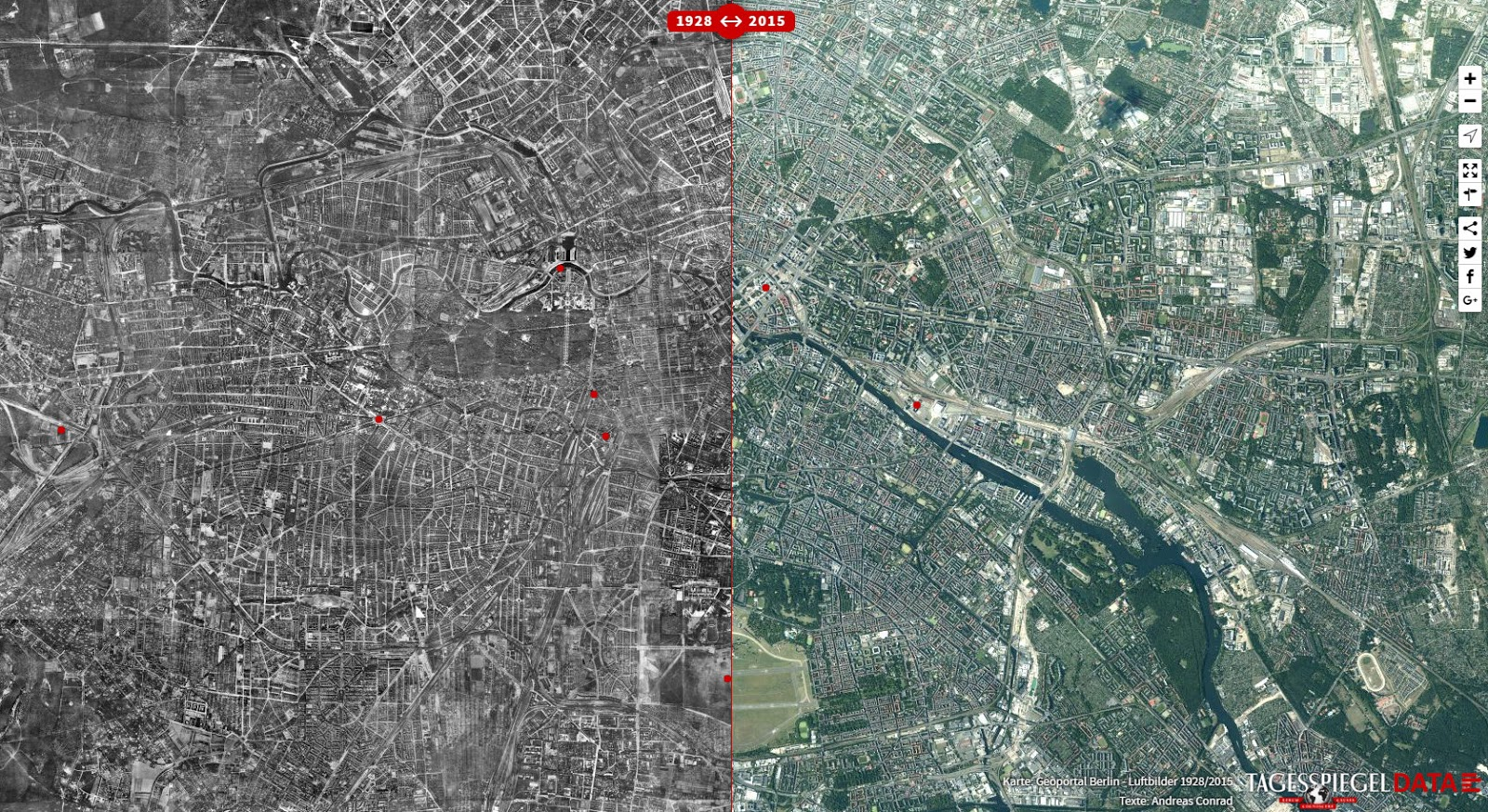 Berlin in 1928 and Today