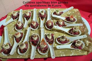 Vie quotidienne de FLaure: Cuillères apéritives bien garnies