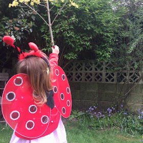 Jane playing ladybird