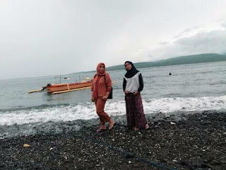 Pantai yang indah di Pulau Menjangan