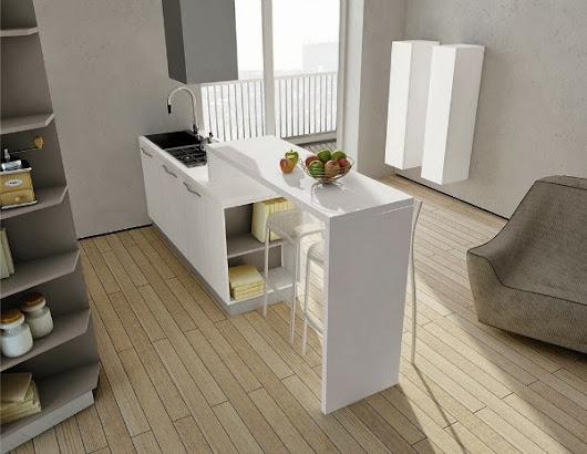 Poco spazio eccovi alcune soluzioni per creare un soggiorno cucina in un uni - Creare un bagno in poco spazio ...