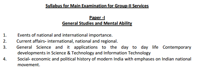Group-2 Paper-1 Syllabus