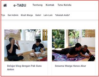 E- TABU NET ( Inspirasi Semangat Membuat Blog )