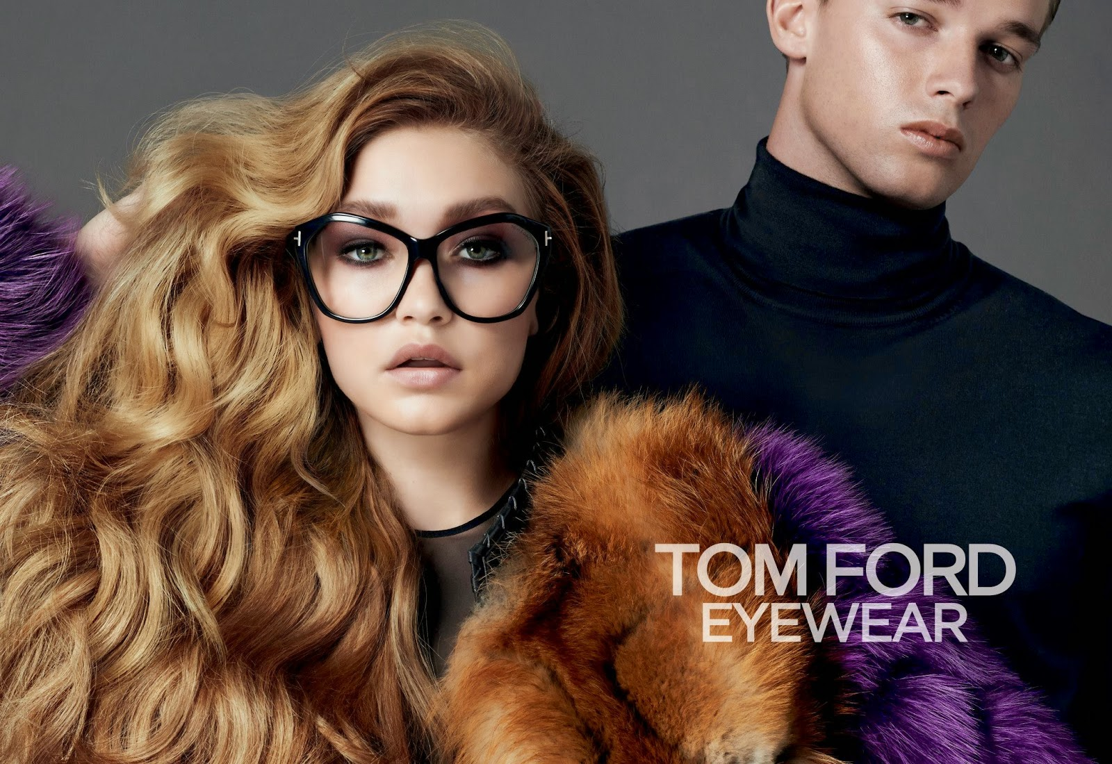 905e0cfdc21 Client  Tom Ford Eyewear Designer  Tom Ford Campaign  Fall 2014. Models   Gigi Hadid and Patrick Schwarzenegger Photographer  Johnny Dufort