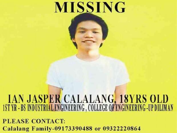 Ian Jasper Calalang reportedly returned home
