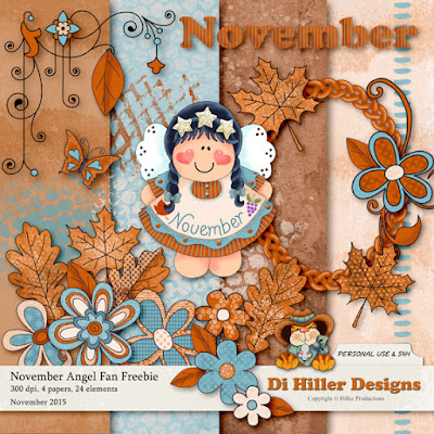 November Fan Freebie by Di Hiller Designs