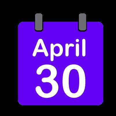 30 APRIL 2018