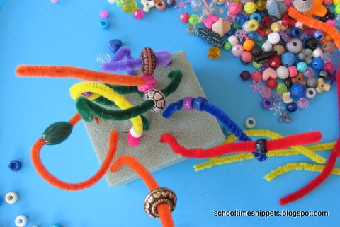 pipe cleaner sculpture for kids