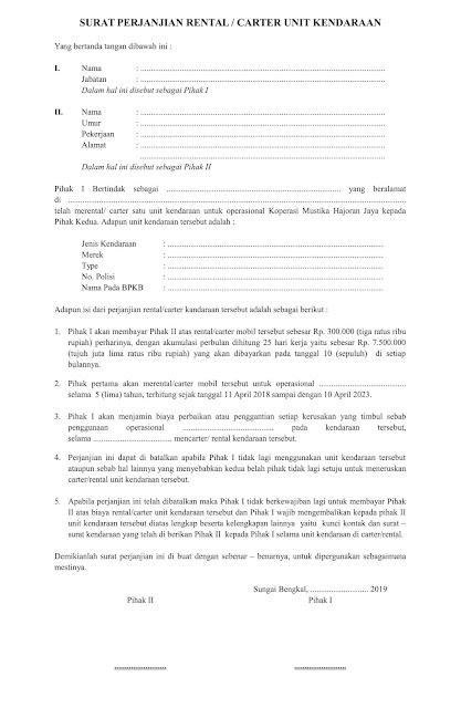 contoh klausul perjanjian kerjasama