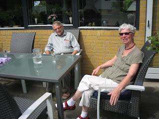 Carsten og Berit på terrassen