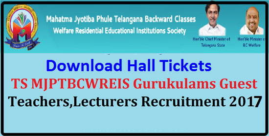 MJP TS BC Gurukulams Teachers, Lecturers Recruitment 2017 Hall Tickets @mjptbcwreis.cgg.gov.in MJP TS BC Gurukulams Teachers, Lecturers Recruitment 2017 Hall Tickets MJP TS BC Gurukulams Teachers, Lecturers Recruitment 2017 Hall Tickets @mjptbcwreis.cgg.gov.in | MJP TS BC Residenttial Schools, Colleges Teachers,Junior Lecturers Recruitment 2017 Hal Tickets | TS BC Gurukulams Teachers, Lecturers Recruitment 2017 Hall Tickets | Download Hall Tickets of MJPTBCWREIS Teachers, Junior Lecturers Recruitment 2017 | TS BC Welfare Teachers ,Lecturers Recruitment 2017 Hall Tickets | Mahatma Jyothiba Phule Telangana Backward Classes Welfare Residential Educational Institutions Society (MJPTBCWREIS) Hyderabad had published the Guest Teachers, Lecturers Recruitment for 119 TS BC Residential Schools and 16 Upgraded Junior Colleges for Backward Classes.MJPTBCWREIS invited the application forms from the eligible and interested candidates for recruitment of PGTs, TGTs,PETs,PDs,JLs| mjp-ts-bc-gurukulams-teachers-lecturers-recruitment-2017-hall-tickets-mjptbcwreis.cgg.gov.in/2017/05/mjp-ts-bc-gurukulams-teachers-lecturers-recruitment-2017-hall-tickets-mjptbcwreis.cgg.gov.in.html