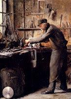 El carpintero, por Frans Mortelmans