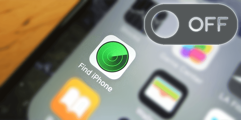 turn off find my iphone remotely