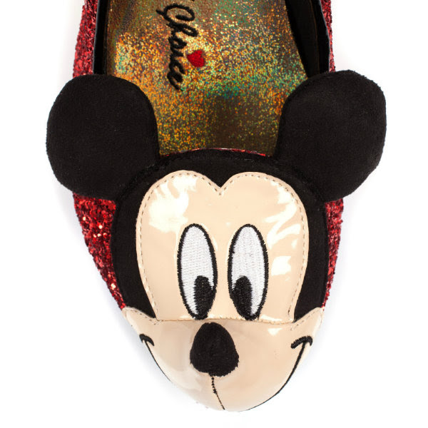 irregular choice disney mickey mouse toe detail