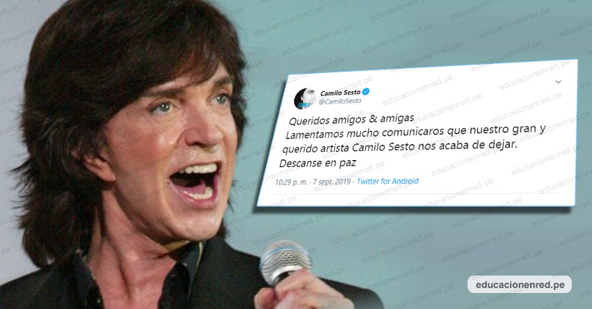 CAMILO SESTO: Cantante español murió a los 72 años de edad