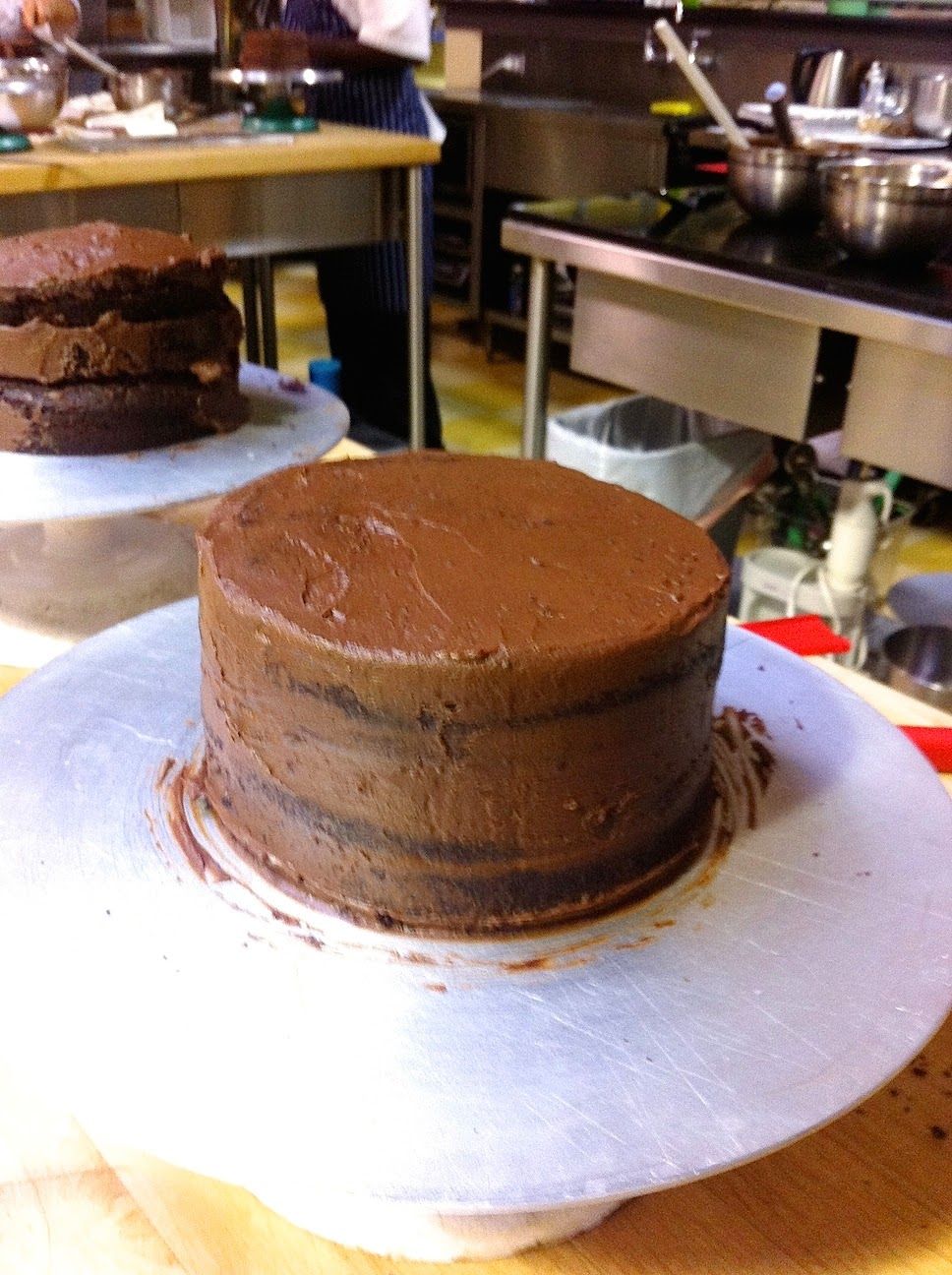 Scenes from the pastry kitchen.