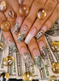 Funky Nails: Money Nail Art$$$