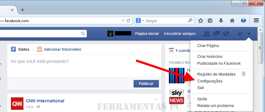 desativar videos automaticos Facebook